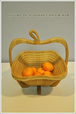 りんごの竹かご,apple bamboo basket
