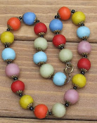 Vintage necklaces of dyed stone
