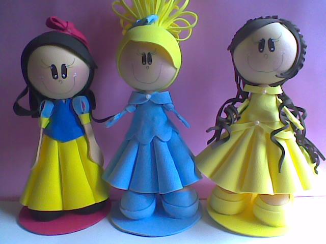 ARTE EM EVA: Fofuchas princesas,agora prontas.