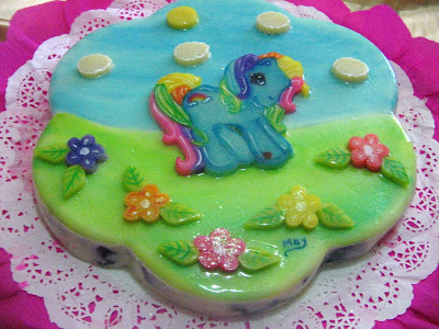 TORTA Y GELATINA DE MY LITTLE PONY