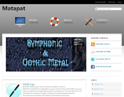 Matapat Blogger Template