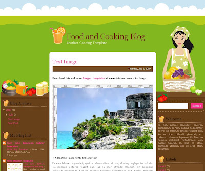 Food and Cooking Blogger Theme