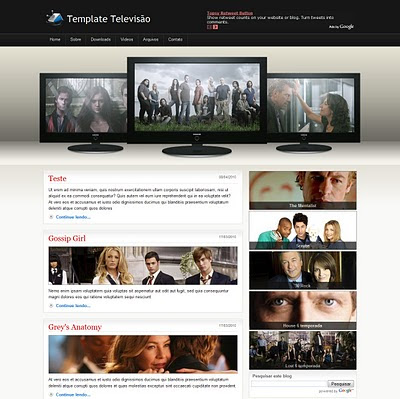 Blogger Template TV