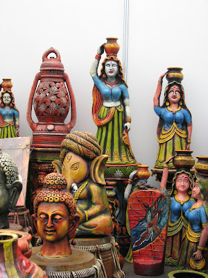 Arts and crafts stall at Kala Ghoda
