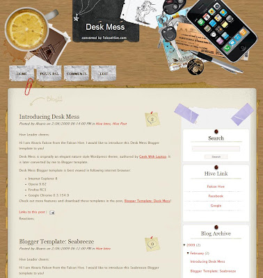 Desk Mess blogger template