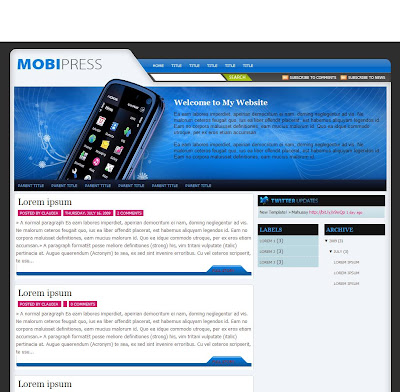 Mobipress Blogger Template