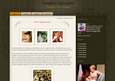 Impresses Blogger Theme
