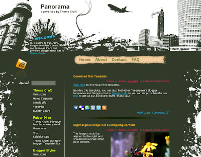 Panorama Blogger Template