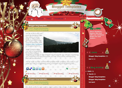 Christmas in my Heart Blogger Theme