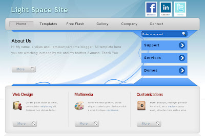 lightspace corporate business blog template