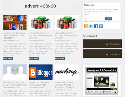 lightspace blogspot business theme