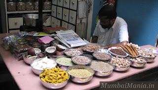 spices on display at mirchi gali