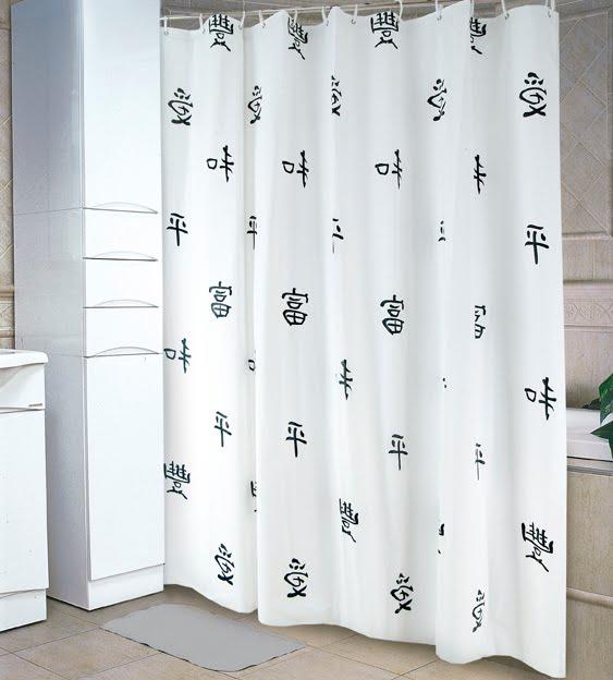 Cortinas De Baño Blancas: Jean Cartier: 0455 / 56 – Cortinas de Baño Opaca Blancas Estampada