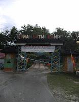 gerbang awal taman satwa kandi