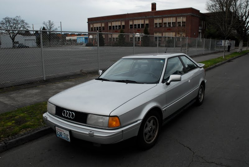 OLD PARKED CARS.: 1991 Audi Coupe Quattro.