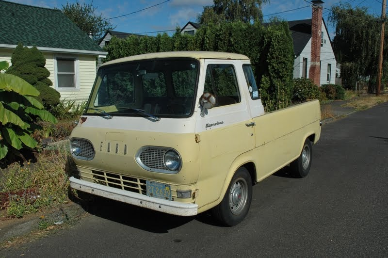 OLD PARKED CARS.: 1963 Ford Econoline Pickup.