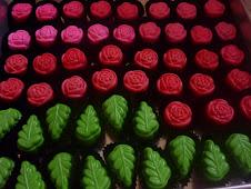 Bentuk rose & daun