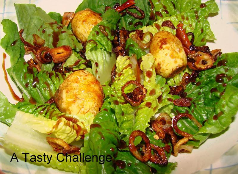 Masala Fried Quail Egg Salad