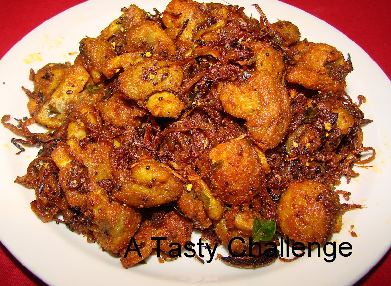 Mushroom and Onion Pepper Fry
