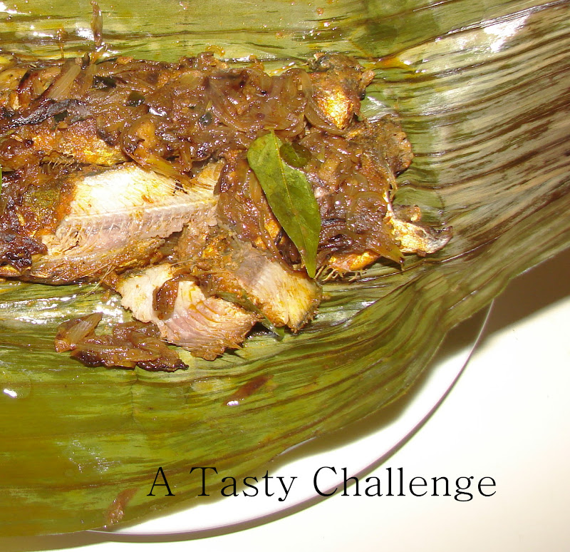 Sardines Grilled in Banana Leaves