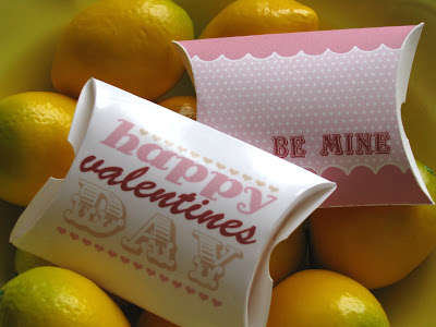 Yellow Mum Valentine Pillow boxes