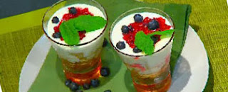 Trifle de frutos del bosque