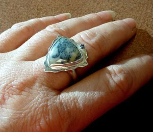 art jewelry ring by Janice Fowler