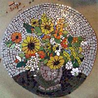 Mozaik virágcsendélet