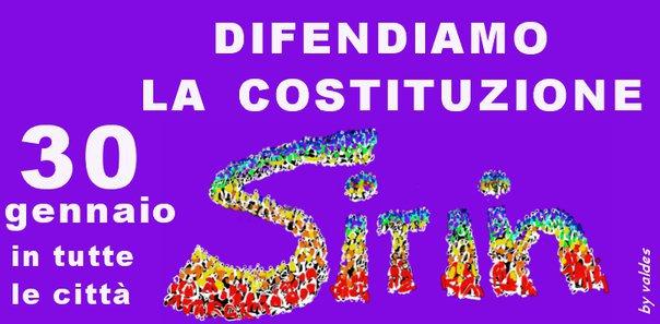 30 gennaio manifestazione  in difesa della Costituzione.