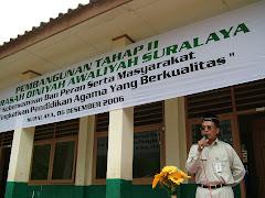 Sambutan Peletakan Batu Pertama Pembangunan Madrasah Suralaya tahap II