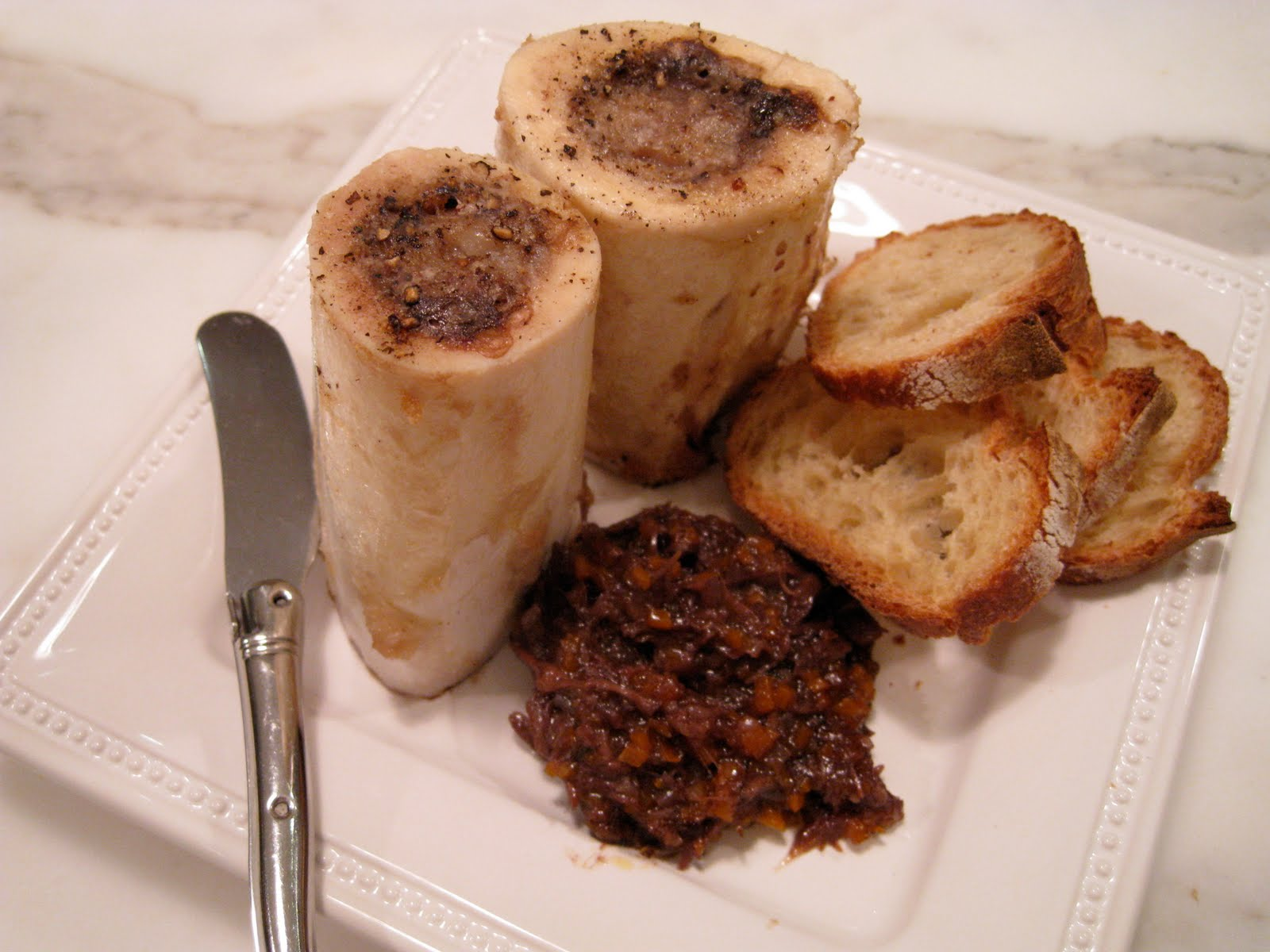 THE MARY BUFFET: Roasted Beef Marrow with Oxtail Marmalade AND Roasted ...