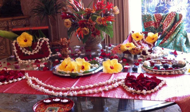 Mehndi Table Centerpieces : November indian weddings in hawaii