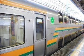 東京駅で列車に乗り込む