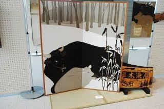 久保田昭美さんの草木染展の写真