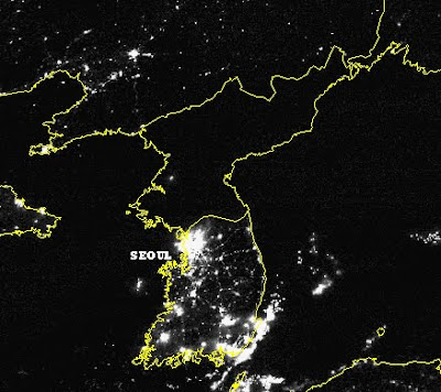 Its Always Earth Hour in North                             Korea N+v+S+Korea