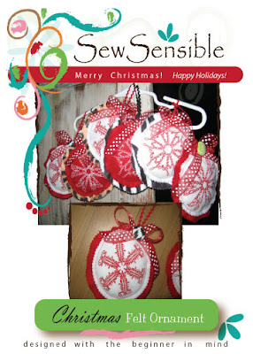 FABRIC CHRISTMAS ORNAMENT PATTERN - Ornaments
