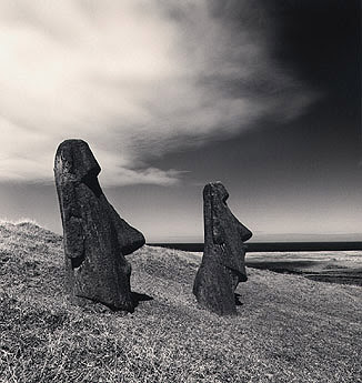Michael Kenna - Moai, Study 2, Rano Raraku, Easter Island. 2000