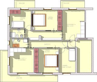 I miei progetti studio di frazionamento di un for Planimetria stanza
