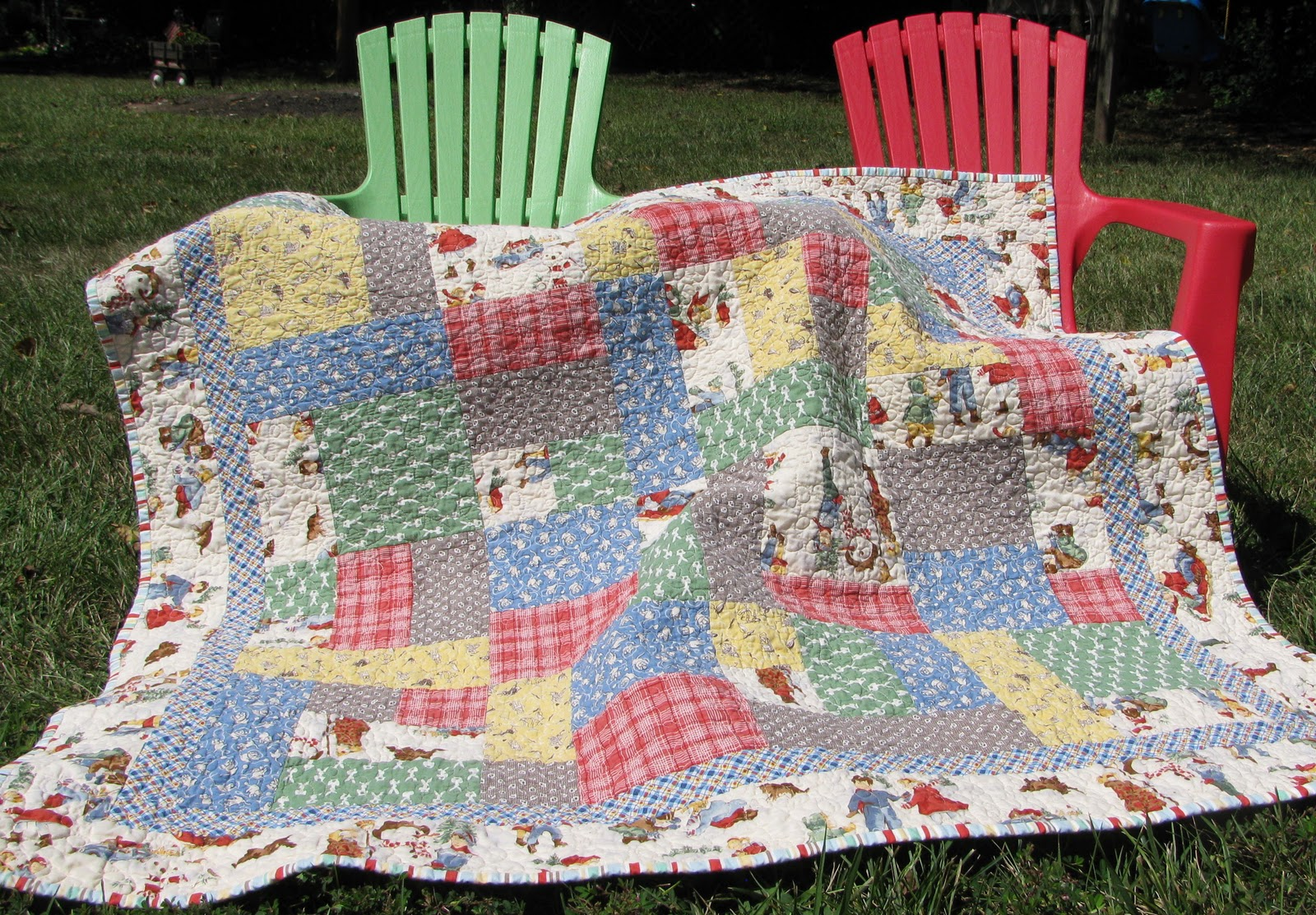 Lollyquiltz my baby quilts for Floor quilt for babies
