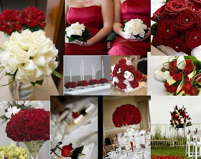 red and white wedding themes. a red and white theme for