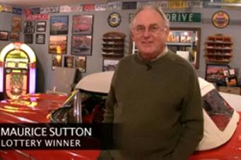 maurice sutton was a member of a lottery pool from a car dealership in a