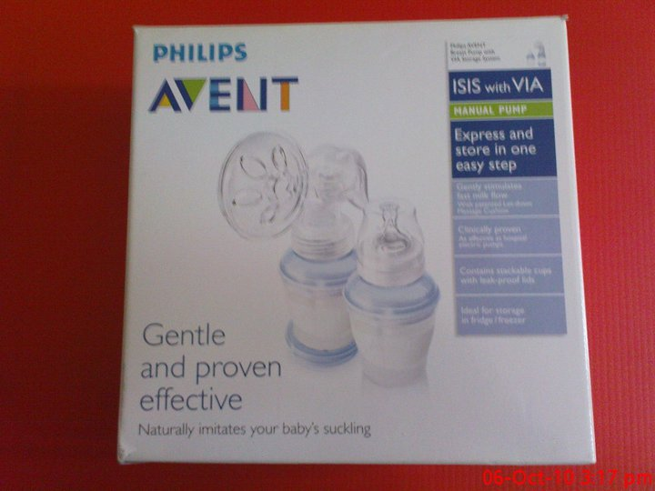 Philips Avent Manual Breast Pump ISIS with VIA Storage System