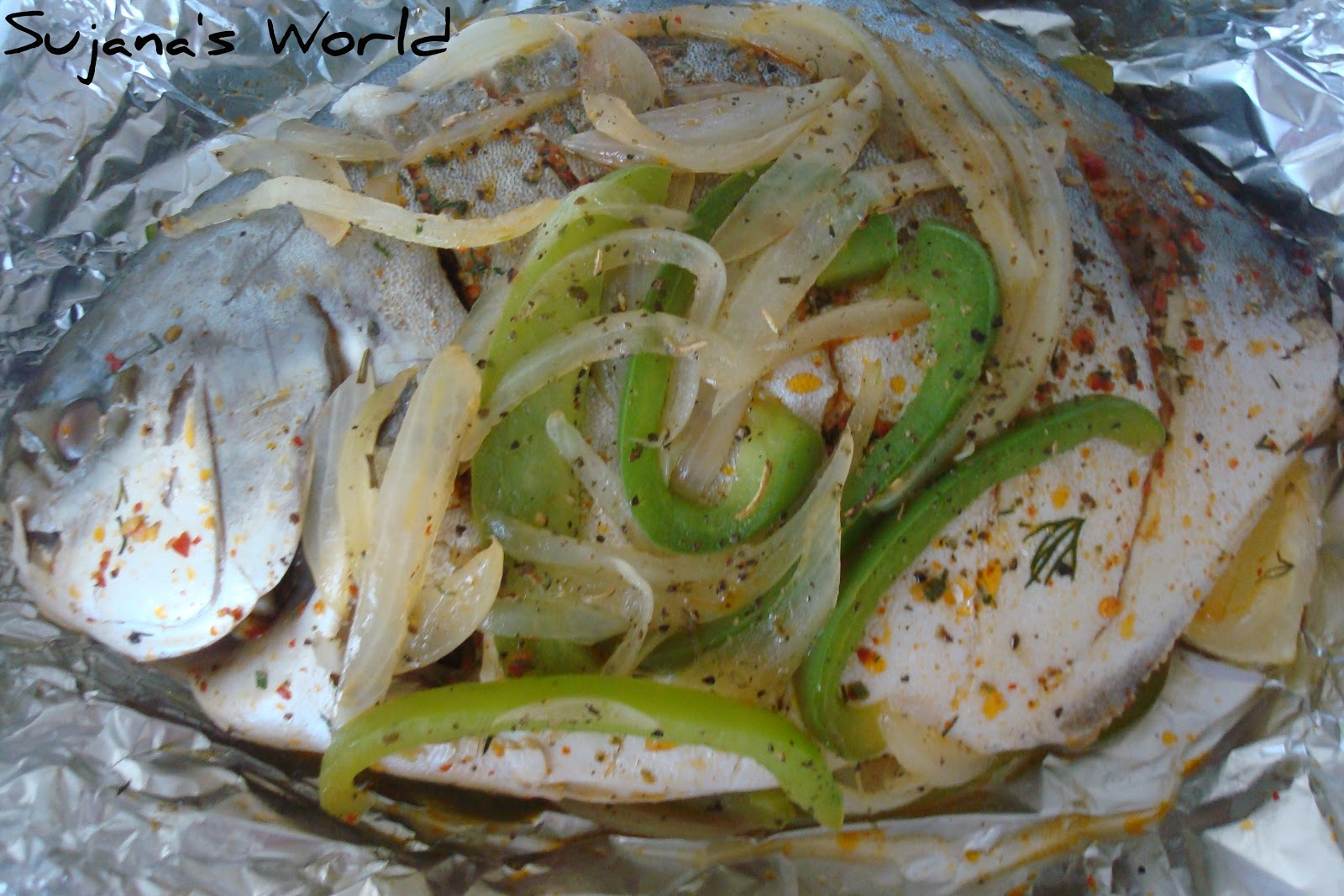 Sujana 39 s world baked whole fish for Pompano fish recipe