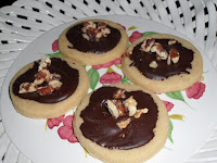 The Cook's Tour: Toffee Cookies with Dark Chocolate Glaze