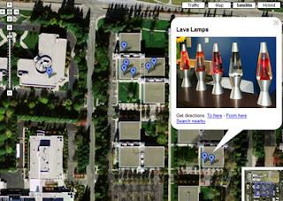 la mappa del Googleplex, il quartier generale di Google!