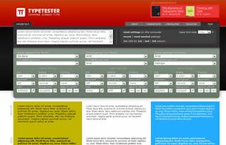 tools per confrontare fonts, caratteri, colori e sfondo per web design di siti internet