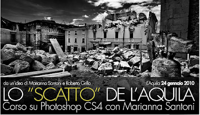 corso photoshop CS4 all'Acquila. lo Scatto dell'Aquila