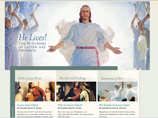 web design di siti religiosi. Jesus Christ the son of god