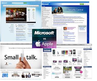 Differenza tra il sito Apple e il sito Microsoft