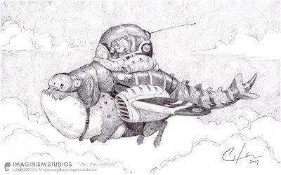 air force one creativo. Un simpatico disegno artistico di Bobby Chiu